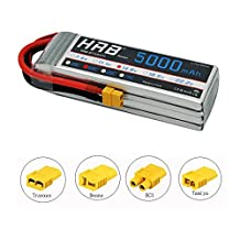 HRB 4S 14.8v 5000mAh 50C Lipo Battery XT60 Connector for RC Airplane, RC Helicopter, RC Car/Truck, RC Boat (EC3/Deans/Traxxas/Tamiya)