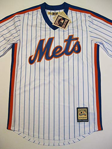 Majestic Mike Piazza New York Mets 1986 Pinstripe Cooperstown Classic Replica Jersey (Medium)