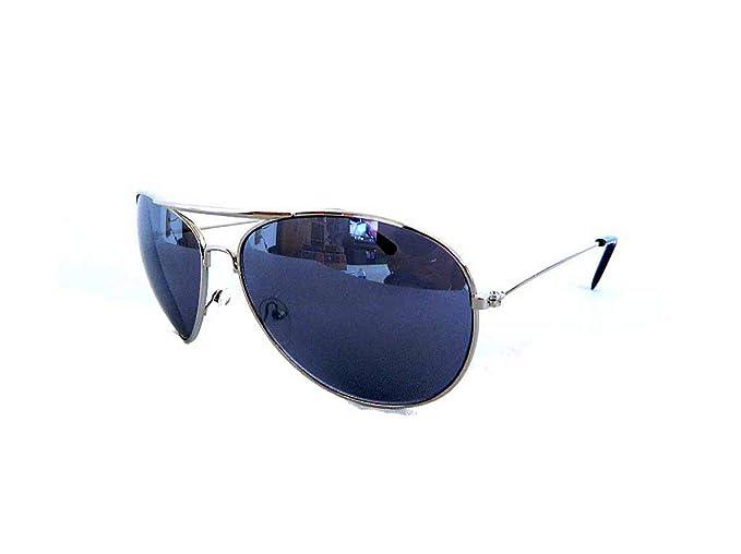 c020321611a Amazon.com  New Aviator Pilot Sunglasses - Dark Grey Lens (Gunmetal ...