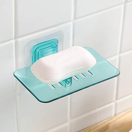 Jabonera para ducha autoadhesiva, soporte de jabón de pared ...
