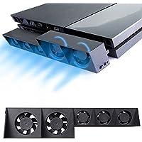 PS4 Turbo Cooling Fan – ElecGear External USB Cooler Auto...