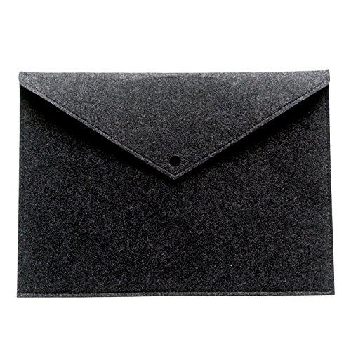 Felt Envelopes - Ownuzz 17''Protective Felt Case Bag Cover for All-New Tracing Light Box, Portable Felt Carrying Pouch Protective Cover Laptop protective cover Big folder Envelope Bag Cover(Dark gray)