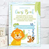 Personalised Zoo / Jungle Themed Guest Book Table Sign for Children's Party (KB2)