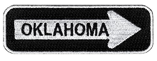 One Way Sign Oklahoma Embroidered Patch Iron-On Road ()