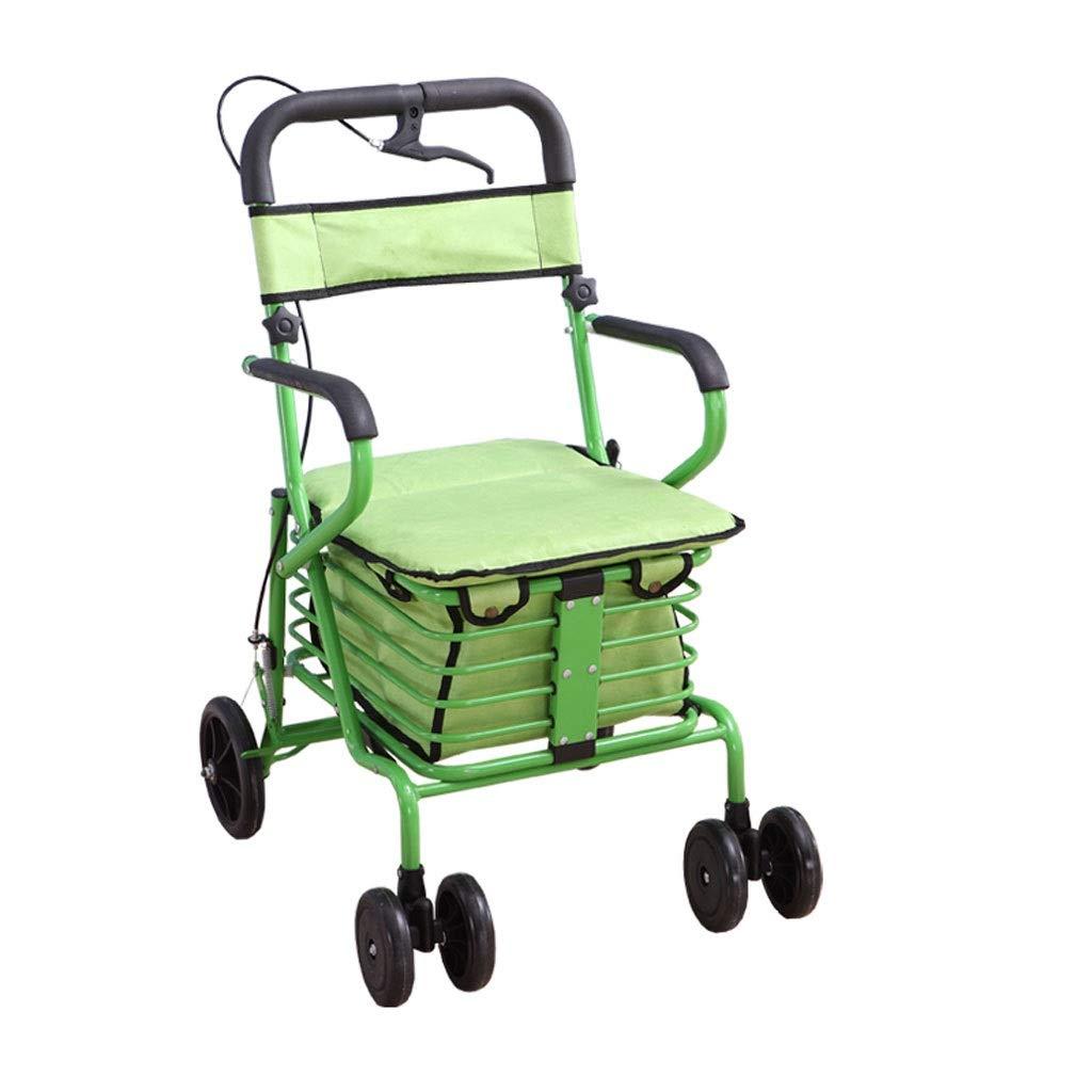 Xilinshop Portable Utility Carts Old Man Folding Shopping Cart Portable Shopping Cart Shopping Cart Home Shopping Cart ( Color : B )