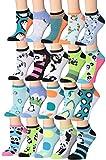 penguin pack - Tipi Toe Women's 20 Pairs Animal Novelty Low Cut Socks No Show Socks, (sock size9-11) Fits shoe size 6-12, WL21-AB