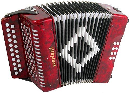 Scarlatti Akkordeon 2 Reihen B-C Rot