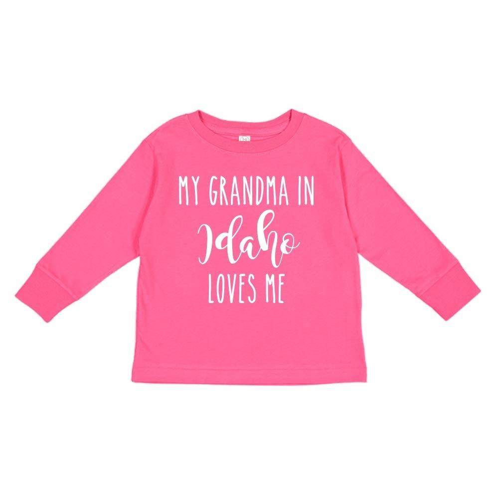 Toddler//Kids Long Sleeve T-Shirt My Grandma in Idaho Loves Me