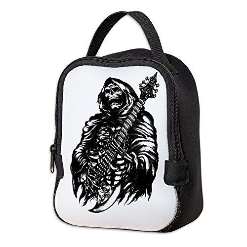 Neoprene Lunch Bag Grim Reaper Heavy Metal Rock Player