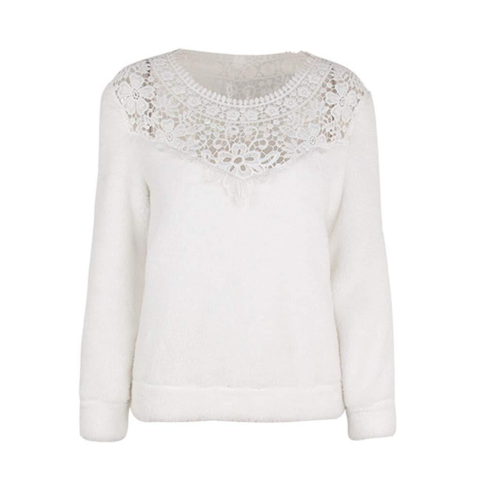 Damen Top Sweatshirt Winter Locker Sitzend Top Mode Unregelmäßig Saum Sweatshirt