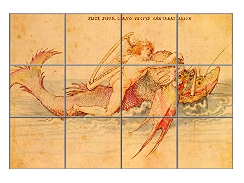 Ambras Art Book - Arion (Durer) Horizontal Tile Mural Satin Finish 12