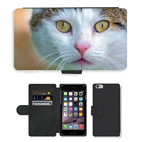 "GoGoMobile PU Leather Flip Custodia Protettiva Case Cover per // M00123976 Adorable animal beau // Apple iPhone 6 4.7"""