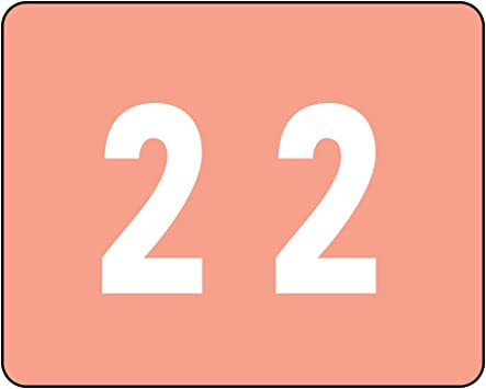 Number 1 67341 500 Labels per Roll Light Blue Smead DCCRN Numeric Color-Coded Numeric Labels