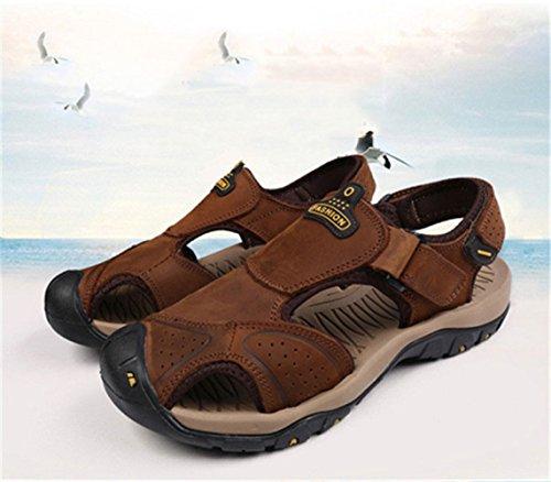 Playa Hombre Zapatillas De Verano De Zapatillas Sandalias Transpirables De Lightbrown xXqRwxSt