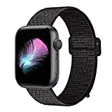 HILIMNY Compatible for Apple Watch Band 38mm 40mm 42mm 44mm, Soft Nylon Sport Loop, with Hook and Loop Fastener, Replacement Band Compatible for iWatch Series 1/2 / 3/4