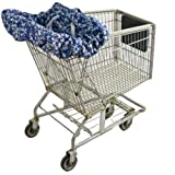 Wupzey Shopping Cart and Diner Seat Cover, Navy Hawaii