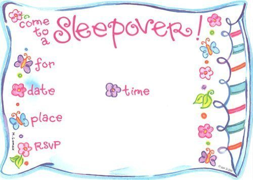 sleepover invitations for girls