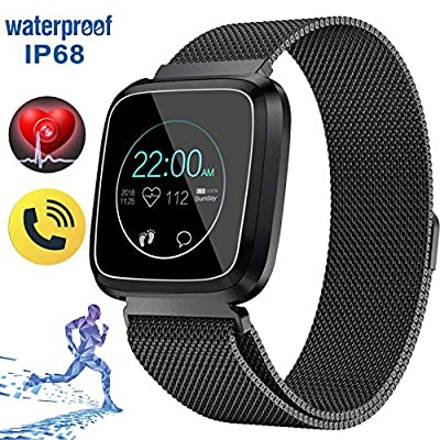 Sport Smart Watch for Women Men Fitness Tracker 1.33'' Screen IP68 Waterproof 9 Sport Mode Heart Rate Blood Pressure Sleep Monitor Pedometer Calories Bluetooth Call Reminder Mother's Day Birthday Gift