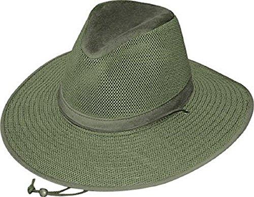 [Henschel Crushable Soft Mesh Aussie Breezer Hat-Green-L] (Straw Farmer Hats)
