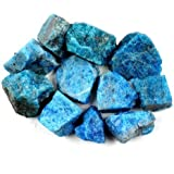 """Crystal Allies Materials: 1lb Bulk Rough Blue Apatite Stones from Madagascar - Large 1"""" Raw Natural Crystals for Cabbing, Cutting, Lapidary, Tumbling, and Polishing & Reiki Crystal HealingWholesale Lot"""