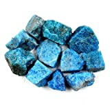 "Crystal Allies Materials: 1lb Bulk Rough Blue Apatite Stones from Madagascar - Large 1"" Raw Natural Crystals for Cabbing, Cutting, Lapidary, Tumbling, and Polishing & Reiki Crystal HealingWholesale Lot"