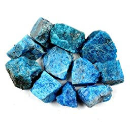 Crystal Allies Materials: 1lb Bulk Rough Blue Apatite Stones from Madagascar - Large 1\