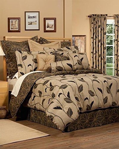 Yvette Brown King 4 Piece Comforter Set by