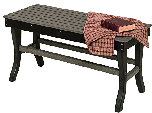 - Poly Lumber Outdoor Coffee Table in Cedar & Black - Amish Made in USA