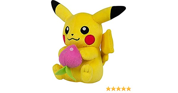 Pokemon Pikachu with Pecha Berry 8-Inch Plush Tomy
