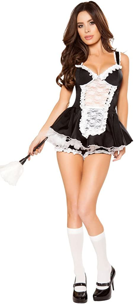 Dress+T-back Lingerie French Maid Ladies Halloween Costume Fashion New