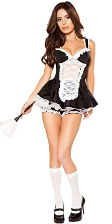 01167c808a8 Amazon.com: Musotica Sexy Women's Dust Bunny French Maid Halloween ...