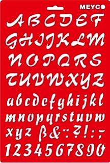 Das AlphabetSchablonenBuch Buchstaben und Zahlen drucken