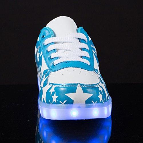 Azzurro Sneakers Luci Luminosi Adulto Scarpe Unisex Con Le Accendono Led Sportive AFFINEST Scarpe px4U7wqx