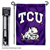 Texas Christian Horned Frogs Garden Flag with Stand Holder