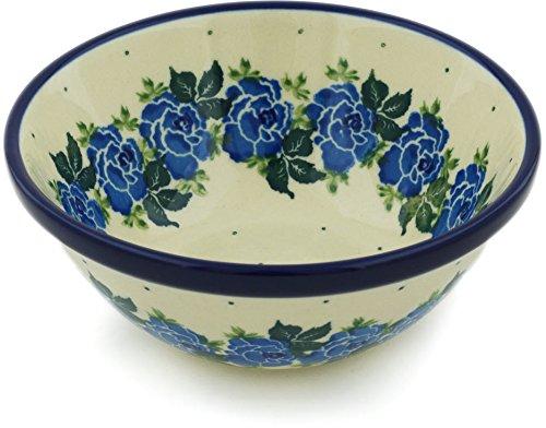 Polish Pottery Bowl 5-inch made by Ceramika Artystyczna (Blue Garland Theme)