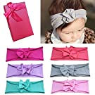 Elesa Miracle Baby Hair Accessories Lovely Baby Girl's Gift Box with Bow Flower Hair Headband (Pure Color headband)