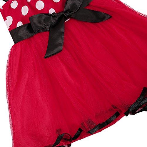 Minnie Costume Baby Girl Tutu Dress Mouse Ear Headband Polka Dot First Birthday Halloween Fancy Dress Up Princess Outfits 100 by OBEEII (Image #6)