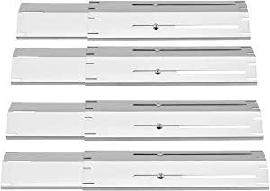 """onlyfire Stainless Steel Universal Replacement Adjustable Heat Plate for Most Gas Grills, Extends from 11.75"""" up to 21"""" L, Set of 4"""