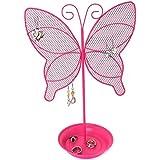 Cute Butterfly Jewelry Organizer – Pink Earring Jewelry Stand Organizer for Teens – Earring Holder