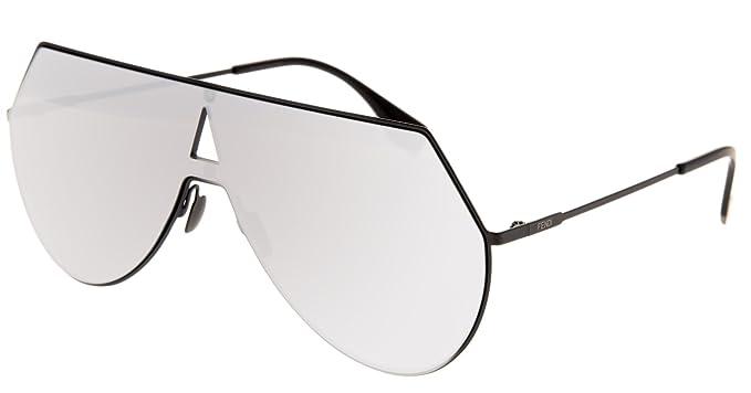 e43bbbe855 Amazon.com  FENDI EYELINE FF0213S Matte Black Oversized Sunglasses ...