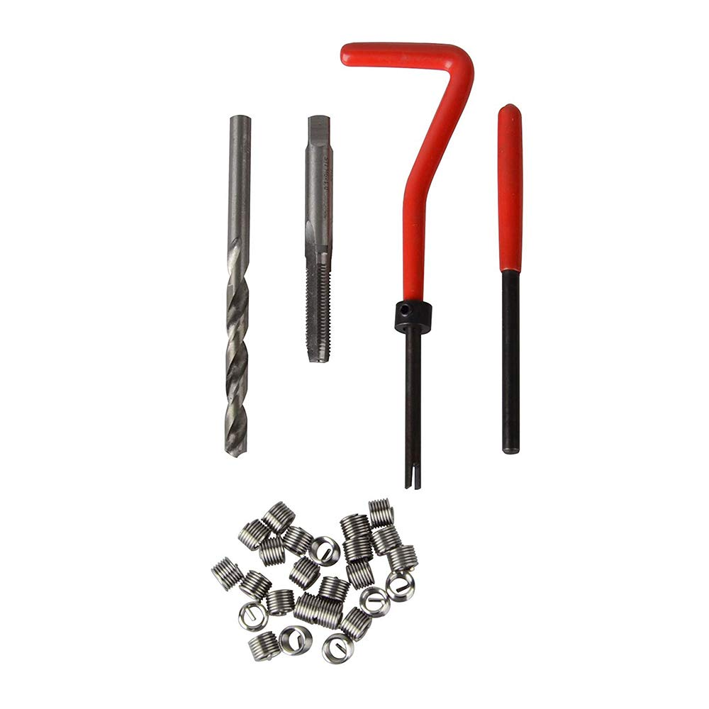 1,25 KKmoon 30Pcs Filetage M/étrique R/éparation Insert Kit M5 M6 M8 M10 M12 M14 Helicoil Voiture Bobine Pro Outil M8