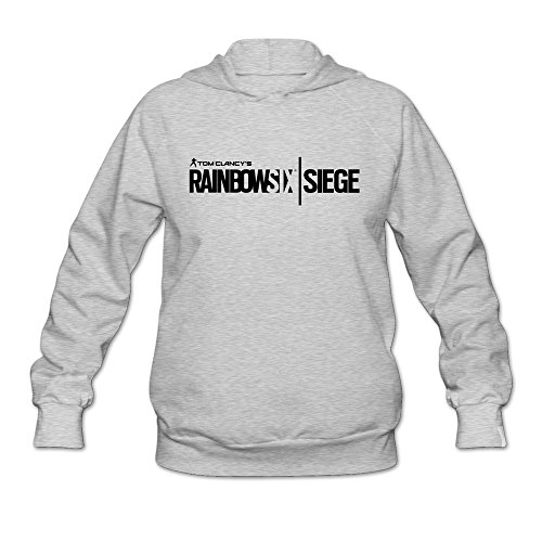 Price comparison product image Rainbow Six Siege Black Logo Cool Roundneck Ash Long Sleeve Sweatshirt For Womens Size L