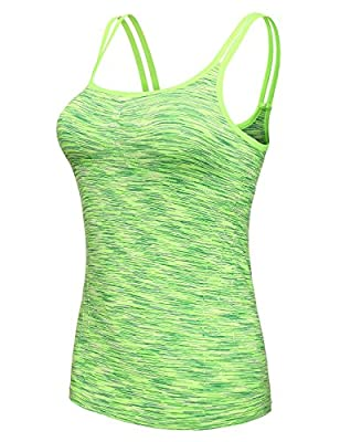 GIODANI Women Fitness Workout Active Adjustable Strap Cami Tank Top