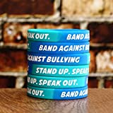 100 Band Against Bullying Wristbands - Stand