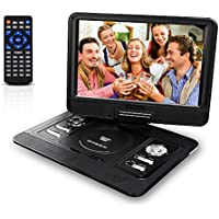 13.3 Portable DVD Player Mobile DVD Player with 270° Swivel Screen,CD Player with Rechargeable Battery SD Card Slot and USB Port for Car
