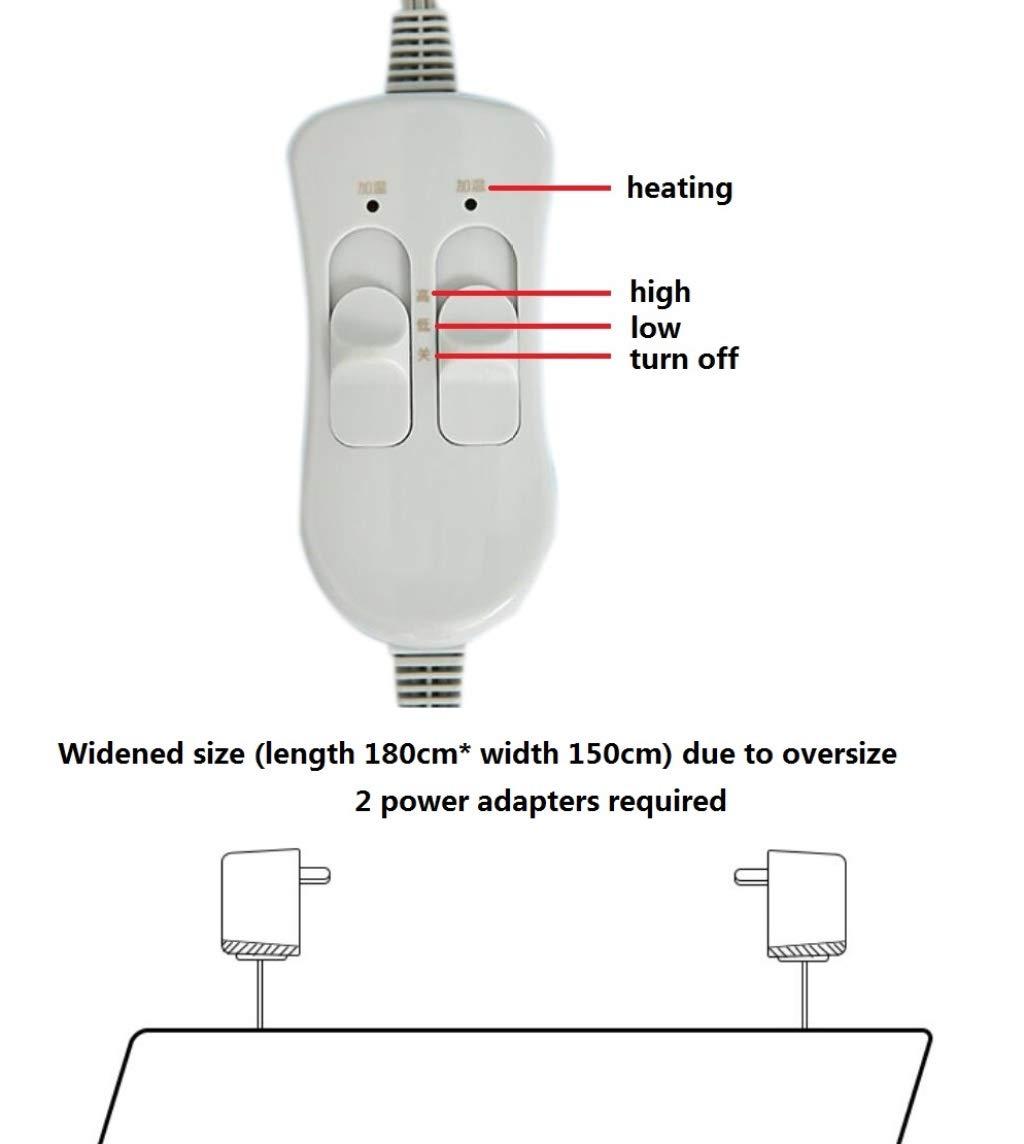 Amazon.com: ALWUD - Manta eléctrica calefactada, tamaño ...