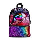 CHAQLIN Schoolbag Unique 3D Eye Fashion School Backpack Fits 15.6 inch Laptop