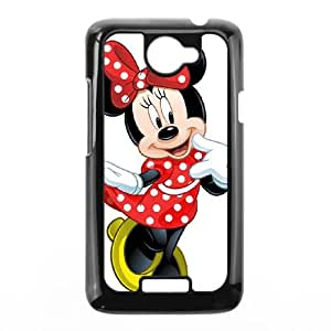 HTC One X Cell Phone Case Black Minnie Mouse2 Qbvhv