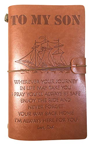 To My Son Notebook Artistic Journey Blessings Embossed Journal Travel Diary Sketchbook (From Dad to Son)