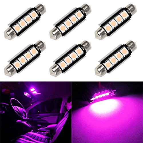Partsam-6pcs-41mm-Festoon-Error-Free-Canbus-Interior-Dome-Map-Light-Bulb-Lamp-12V-561-562-211